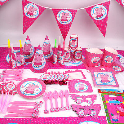 New Kids Peppa Pig Theme Birthday Party Supplies Favor Tableware Decor Gift