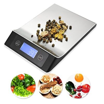 Digital Stainless Steel Platform 15KG Kitchen Scale with Back-lit LCD Display