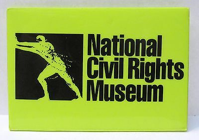 NATIONAL CIVIL RIGHTS MUSEUM rectangular pinback button