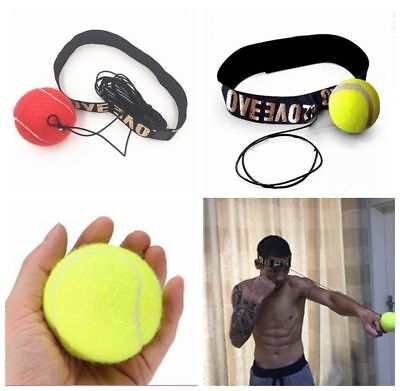 Fight Ball With Head Band For Box Reflex Speed Training Boxing Punch Exercise US