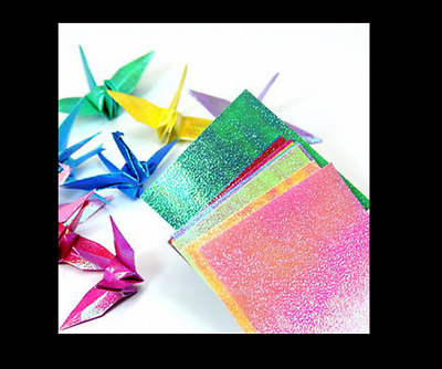 5 Pack = ORIGAMI Pearl Effect 15.2cm 10 Colors Craft Paper (total 50 Sheets)