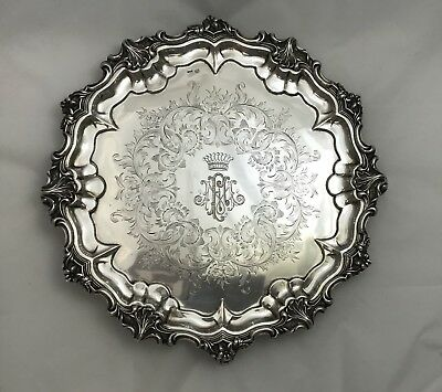 Antique Austrian Vienna 1852 Footed Salver