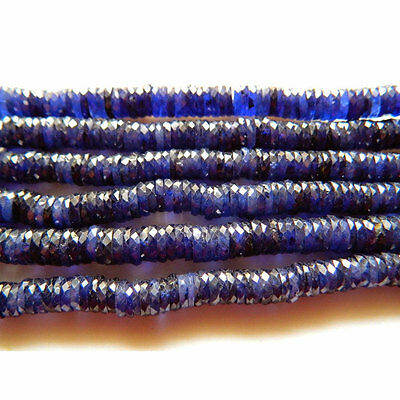 Sapphire Beads/Glass Filled Sapphire Heishi Faceted Beads/Size 7mm Each/16 Inch