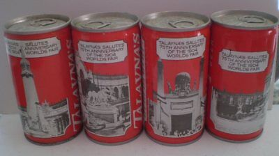 Set of 4 old Talaynia World Fair  old Steel cans - Difficult to get