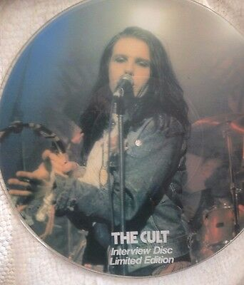 """The Cult 12"""" vinyl record Picture Disc - issue number 0419 - rare & collectable"""
