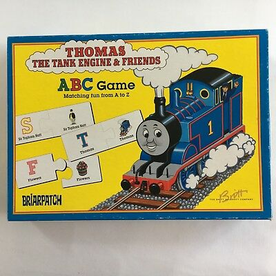 Thomas the Tank Engine Train—ABC Matching Game—Puzzle/Card—Briarpatch—Vintage