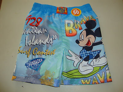Disney Mickey Mouse , Goofy & Donald Duck  Swimshorts Nwt  Graphics Front & Back