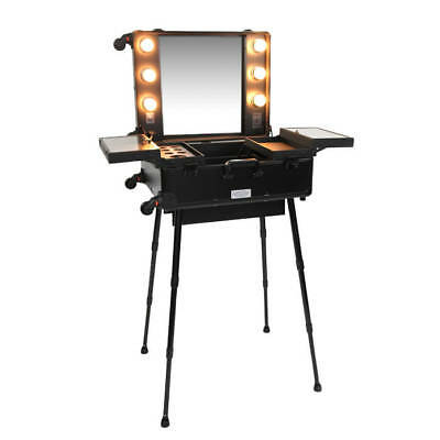 Justine Makeup Station With Lights Black