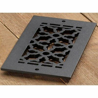 Reggio Registers Cast iron scroll pattern grille 8 x 4 with holes #610-H