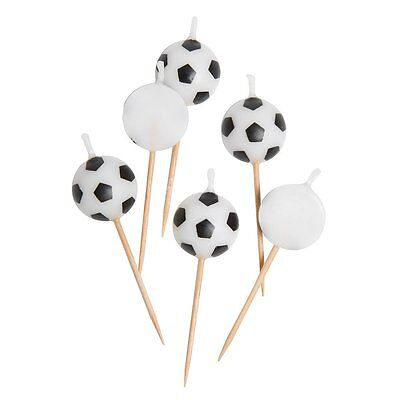 Ball Shaped Football Candles, Pack of 6 - Birthday Cake Ball Shaped Candles