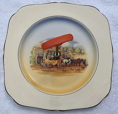"""Cake Stand H & K Tunstall """"dicken's Days"""" Design Made In England"""