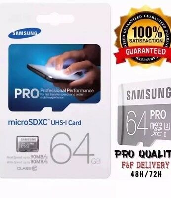 Samsung Pro 64GB Micro SDXC UHS-I card with SD adapter