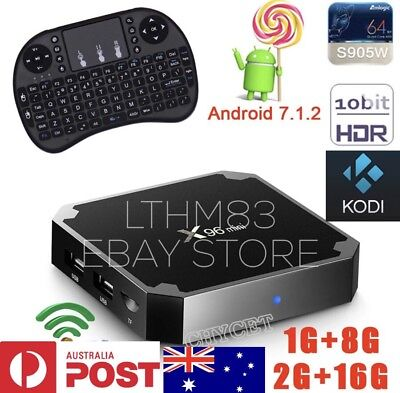 X96 Mini New Release Android 7.2 17.4 Wifi + Keyboard Aus Seller .