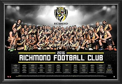 Richmond Football Club 2016 Official Afl Team Print Framed Cotchin