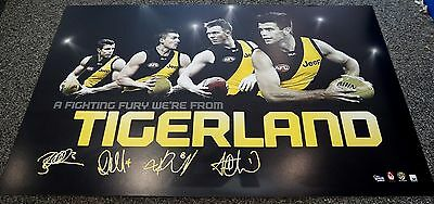 Richmond Football Club Afl 4 Player Print Only - Cotchin Riewoldt Martin