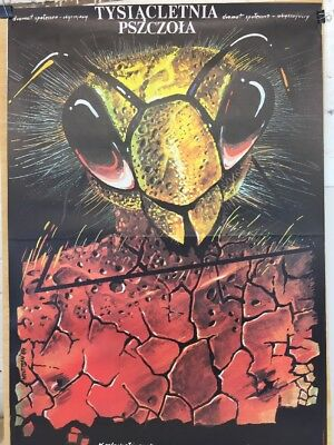 Vintage Movie Poster '1000 Year Old Wasp' Made In Poland Movie Poster
