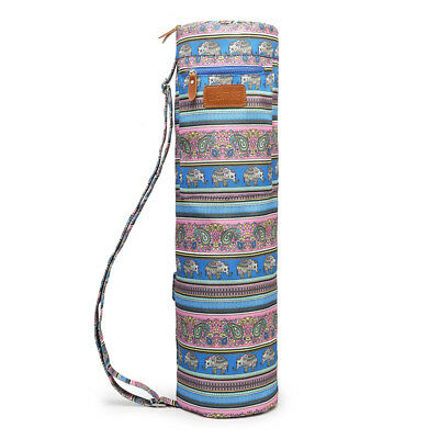 Elenture Full-Zip Exercise Yoga Mat Carry Bag with Multi-Functional Storage Bag
