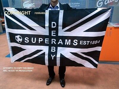 Derby County Super Rams Flag Large 5 Ft X 3Ft