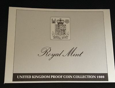 1989 Royal Mint Proof Set Certificate Of Authenticity Documents Coa
