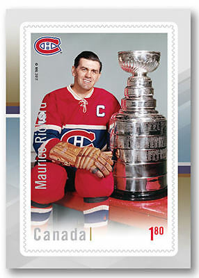 Canada -Hockey card stamp: legends Maurice Richard  -MNH