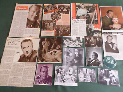 George Sanders  - Film Star - Clippings /cutting Pack