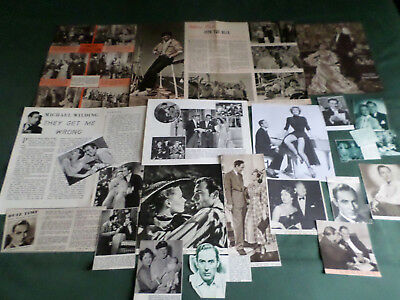 Michael Wilding  - Film Star - Clippings /cutting Pack