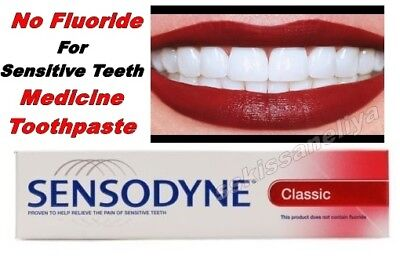 Sensodyne Classic Medicine Toothpaste 75 ml No Fluoride Sensitive Teeth
