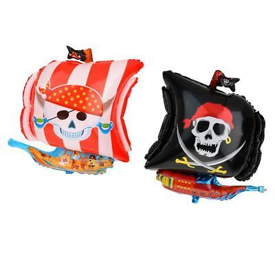 2pcs / Set 18 pouces Foil Mylar Balloons Pirate Balloon Party Baby Shower