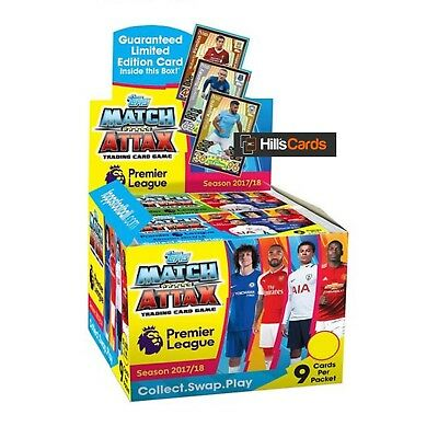 MATCH ATTAX 2017/18 Full Box of 50 Packs Topps Premier League Football Cards EPL
