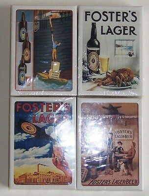 4 Sets Of The Fosters Brewing Co Ltd  Celebrating 125 Years  Playing  Cards