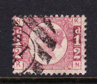 GREAT BRITAIN  1870 ½d ROSE-RED PLATE 9 'KN' SG 48/49 FINE USED.
