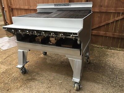 """Bakers Pride CH-8 44"""" 8 Burner HD Radiant Charbroiler w/Wood Log Attachment"""