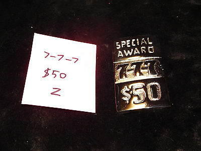 Mills Repro 777 Special $50 Award Hi Top Plate For A Mills Antq Slot Machine #z