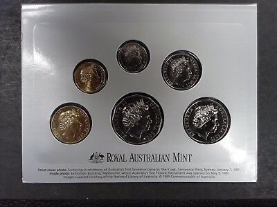 Centenary of Federation 2001, Uncirculated 6 Coin Set, Royal Australian