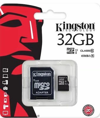 NEW-Kingston 32GB MicroSD Class10 Memory Card & Adapter for Camera Mobile Tablet