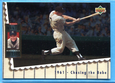 1994 Upper Deck Mantle Heroes #68 Mickey Mantle ~ 1961 Chasing the Babe
