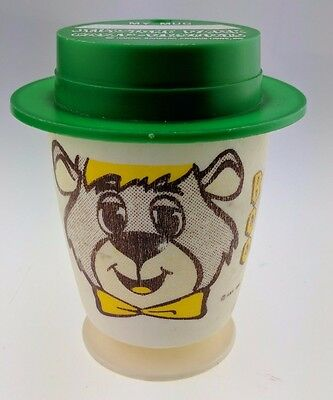 Vintage Jellystone Park Camp Resorts Boo Boo Mug Cup With Lid 1980 Hanna Barbera