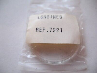 Longines Original  Glass,plexi With Silver Ring For Case Reference 7921