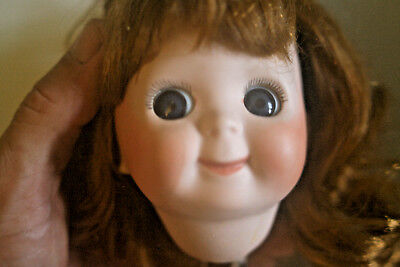 "JDK Germany 221 GOOGLY GIRL Doll 14""  Bisque or Porcelin Head"