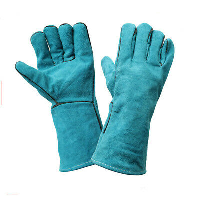 1Pair Cowhide Welding Gloves Lengthening Thickening Labour Protect Work Gloves