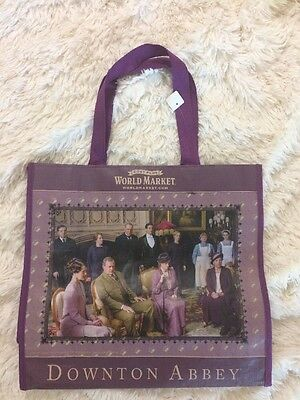 World Market Downton Abbey NWT Purple Shipping Tote