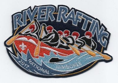 2017 Boy Scout Official National Jamboree Large 6 Man River Rafting Patch Emblem