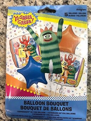 Yo Gabba Gabba Birthday Foil Balloon Bouquet Favors Prizes Party Supplies Decor