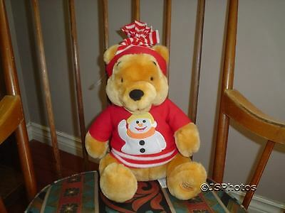 Winnie The Pooh Bear Snowman Disney Store Exclusive 13""