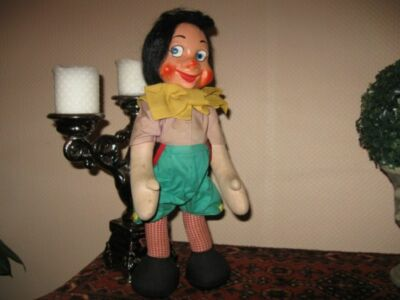 Old Antique 1950s Schuco German Jointed Pinocchio Doll