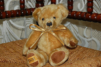 Merrythought Exclusive Blond Mohair Teddy Bear 24 CM 1980s