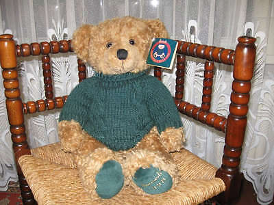 Harrods 1998 Christmas Bear Footdated ALL TAGS Large 13 Inch with All Tags