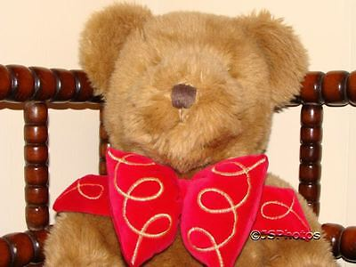 Harrods UK Large Foot Dated Christmas Bear 1997 W Bow