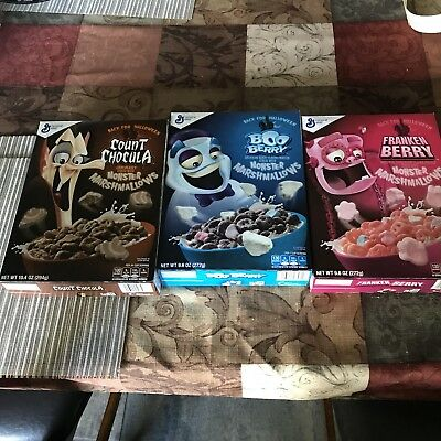 Count Chocula, Boo Berry & Franken Berry