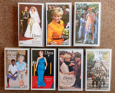 Diana - An Extraordinary Life - Full Set Of 7 Bbc Videos (Vhs) - Rare Set